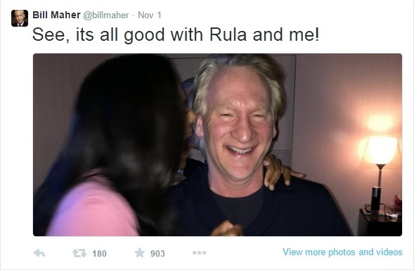 Rula Jebreal and Bill Maher Make up Clip - November 1, 2014