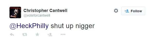 Christopher Cantwell's Racist Tweets on Twitter - Part 2 Clip 2 - May 19, 2015