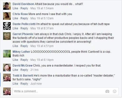 Christopher Cantwell's Stupid Facebook Posting Part III Clip I - 05-18-2015