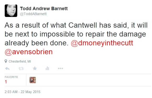 My Tweets on Cantwell Part 3 Clip 1 - 05-22-2015