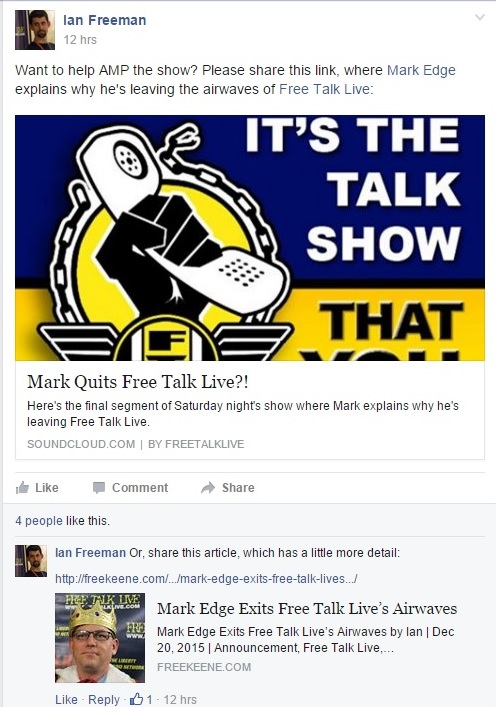 Mark Edge Exits Free Talk Live's Airwaves (Alternate Screenshot) Clipping Part 1 - 12-20-2015