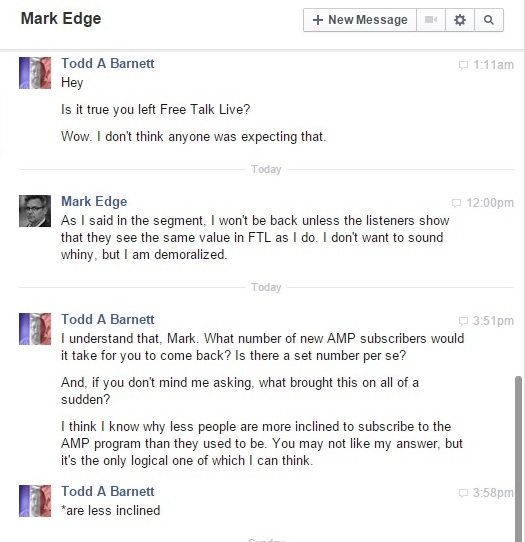 My Chat with Mark Edge About His Departure from Free Talk Live Clip- 12-20-2015