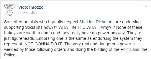 Victor Bozzo Response to Sheldon and Sharing My Post Clip
