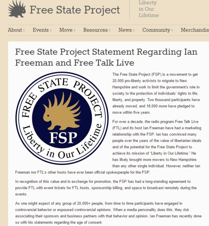 The Free State Project's Decision Regarding Its Banning and Ending Its Relationship with Free Talk Live Host Ian Freeman Part 1 - Clip - 03-17-2016