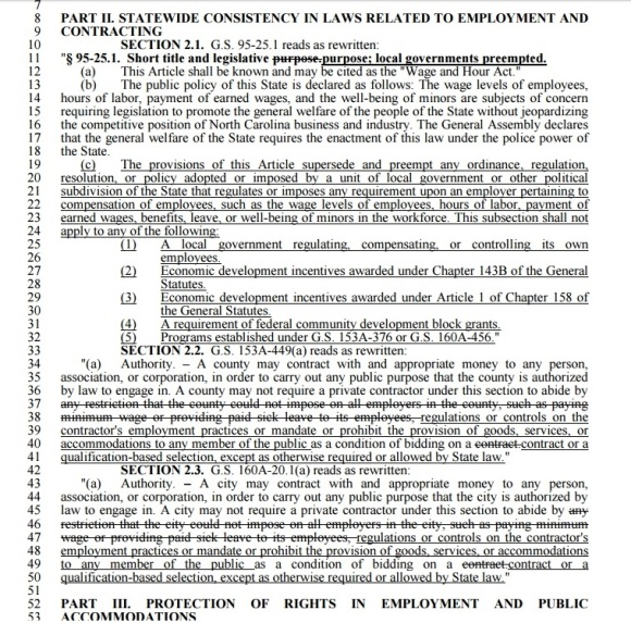 North Carolina Law HB 2 Part 4 - Clip 1 - 04-19-2016
