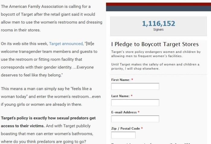 The American Family Association's Boycott Target Pledge - Clip 1 - 04-20-2016