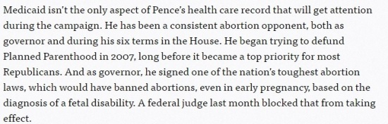 Politico - How Mike Pence Embraced ObamaCare - Clip - (07-15-2016) 07-18-2016