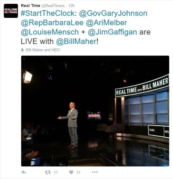 Real Time's Twitter Tweet - 07-01-2016