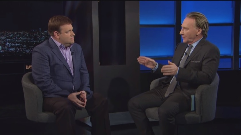 Real Time with Bill Maher Interview - Bill Maher Interviews Republican Pollster Frank Luntz (Which Becomes Heated) - Screenshot - 07-15-2016