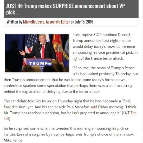 This Just In - Trump Makes Surprise Announcement - Clip - AllenBWest.com - (07-15-2016) 07-18-2016