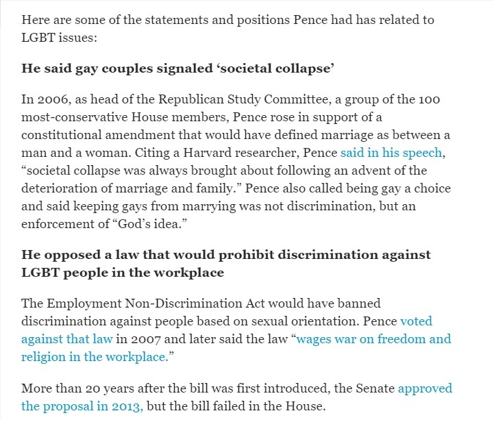 Time - Here's What Mike Pence Said on LGBT Issues Over the Years - Clip - (07-15-2016) 07-18-2016