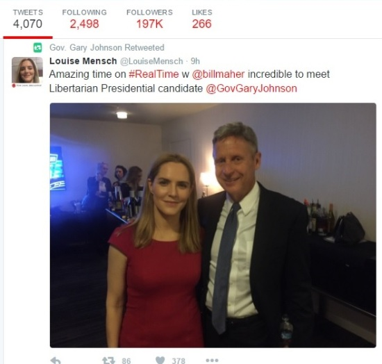 Twitter Responses to Bill Maher and Gary Johnson Interview Part 1 - Clip Part 1 - RTWBM - 07-01-2016
